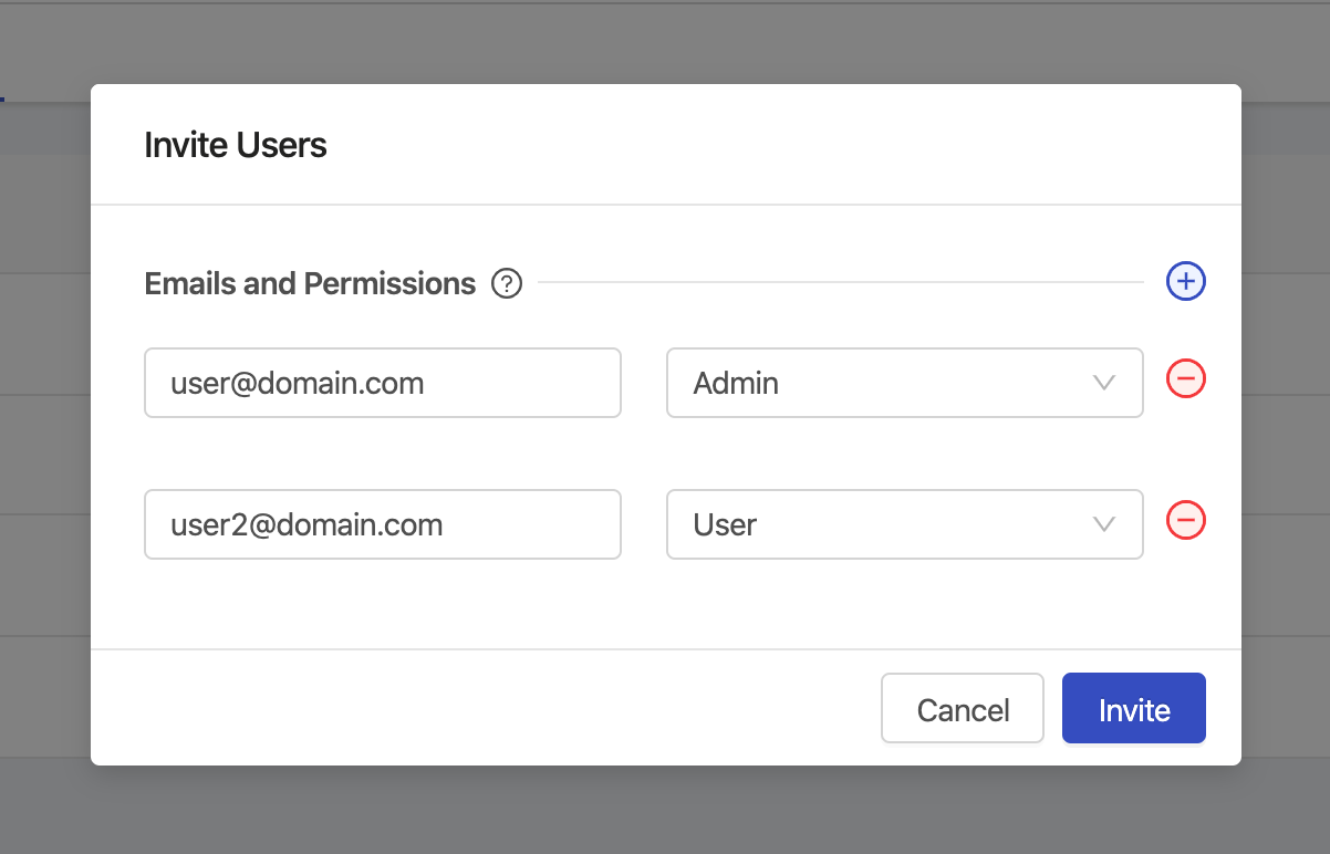 Invite new users to your organization.